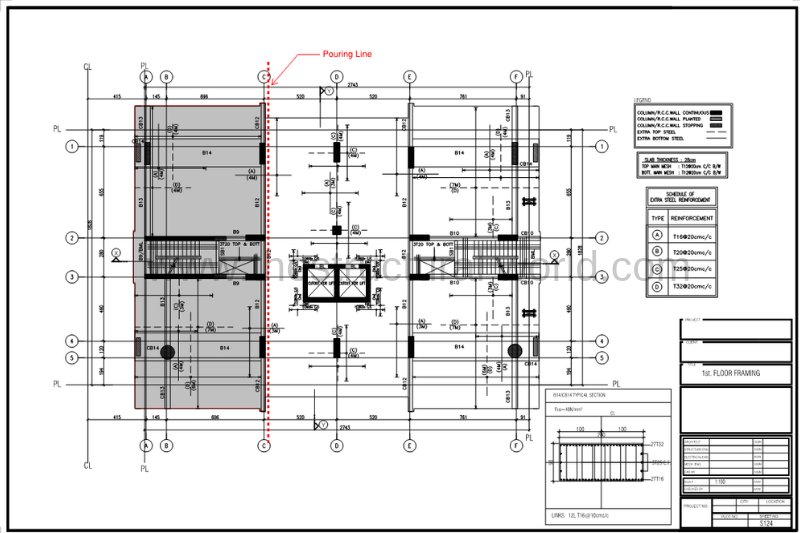 First Floor Framing Plan The Structural World